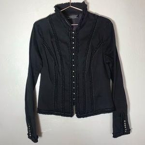 Peruvian connection black Victorian Jacket Sz 10